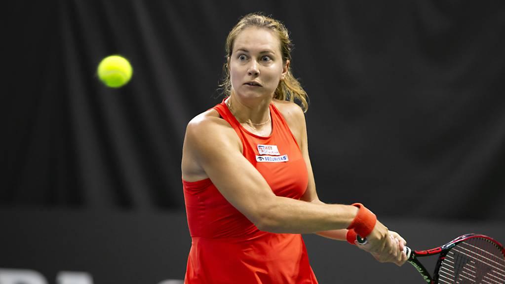 Stefanie Vögele trifft mit der Griechin Maria Sakkari in der Startrunde auf eine gesetzte Spielerin.