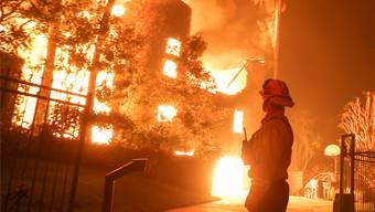 Tausende Feuerwehrleute stehen im Einsatz gegen die verheerenden Waldbrände in Kalifornien. Keystone
