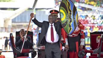 Der Präsident von Tanzania: John Magufuli der regierenden Chama Cha Mapinduzi (CCM) Partei.