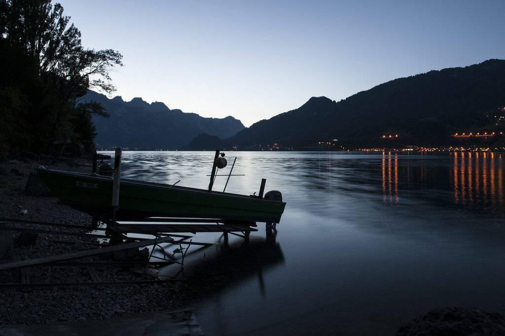 Abendstimmung in Quinten. (Bild: KEYSTONE/Gian Ehrenzeller)