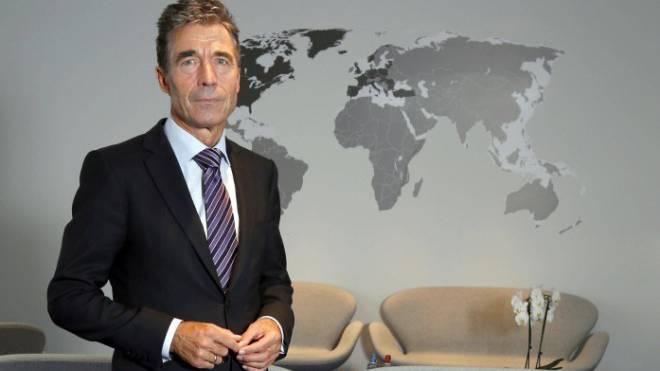 War bis Oktober Nato-Generalsekretär: Anders Fogh Rasmussen im Hauptsitz in Brüssel. Foto: imago/Wiegand Wagner