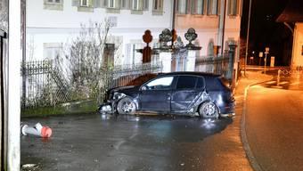 Unfall in Wildegg (23. Dezember 2019)