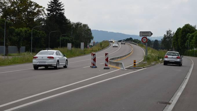 Die dritte Spur der Gaswerkbrücke bleibt vorerst gesperrt