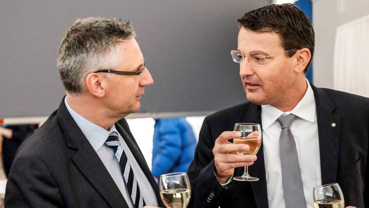 Gemeinsam gewählt: Andreas Glarner und Thomas Burgherr im Grossratskeller – wie gehts jetzt weiter?