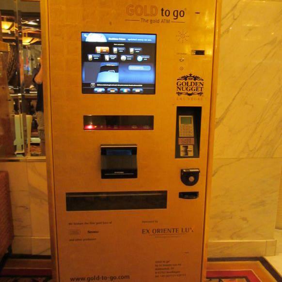 Gold-Automat: Er steht unter anderem in Las Vegas.
