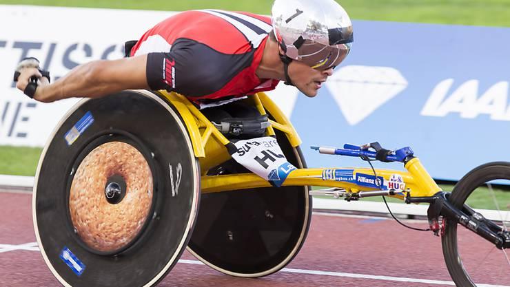 Marcel Hug sorgte an den Paralympics in Rio de Janeiro für die erste Schweizer Medaille und gewann später sein erstes Gold.