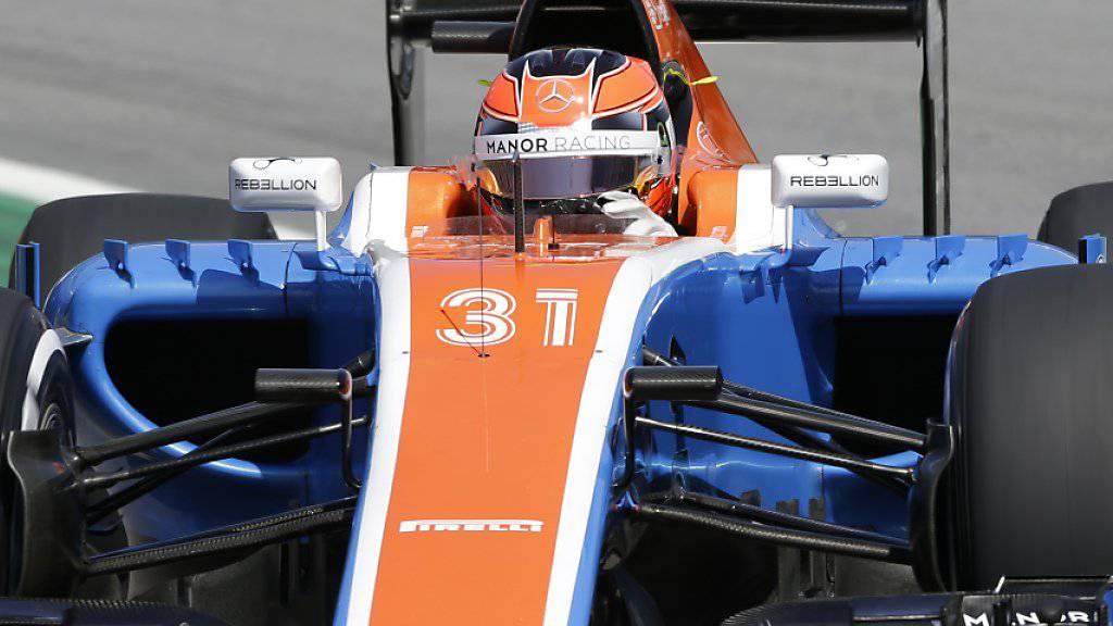 Das britische Formel-1-Team Manor muss Insolvenz anmelden
