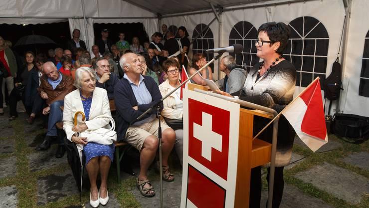 Festrednerin Marianne Meister bei ihrer Ansprache