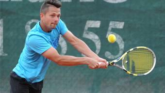 Marcin Gawron (ATP 340) war gegen den Frankfurter Tim Pütz über sieben Stunden im Einsatz. Foto: Roman Aeschbach