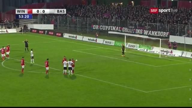 Matias Delgado versenkt den Penalty gegen Winterthur souverän