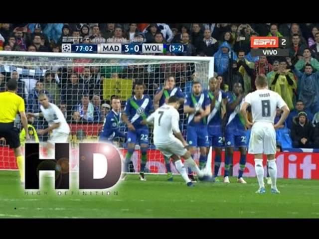 Ronaldos Hattrick im Viertelfinal-Rückspiel gegen Wolfsburg.