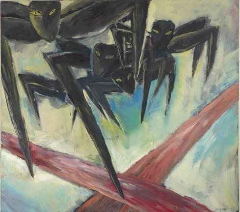 179 x 199 cm; Acryl auf Leinwand Leiko Ikemura Kunstmuseum Basel