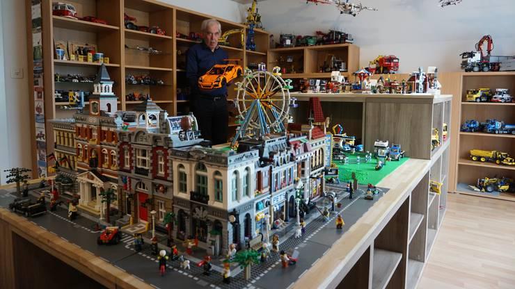 Seine Göttikinder dürfen zwar im Legozimmer spielen, anschliessend räumt Herbert Hunziker aber immer sofort auf.