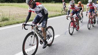 Mathias Frank in der 4. Etappe der Tour de Suisse, die über 193 km von Rheinfelden nach Champagne führte.
