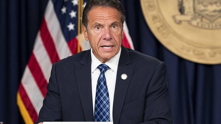 ARCHIV - Andrew Cuomo, Gouverneur des Bundesstaates New York, spricht auf einer Pressekonferenz. Foto: Michael Brochstein/ZUMA Wire/dpa