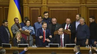 Diskussion im ukrainischen Parlament: Nun ist die Entscheidung gefallen.