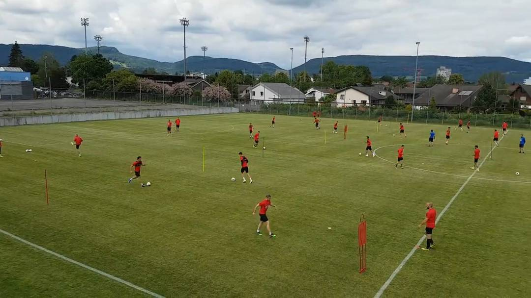 Nach zehn Wochen Corona-Pause hat der FC Aarau das Training wieder aufgenommen