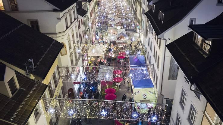 Obwohl der Liestaler Weihnachtsmarkt deutlich kleiner ist als der in Basel, hat er einiges zu bieten.