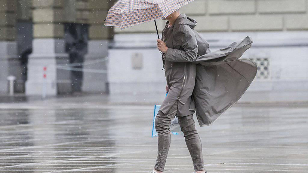 Sturm Sebastian zieht über die Ostschweiz.  (Symbolbild)