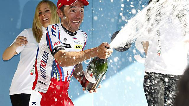 Erneut Champagner für den Spaneir Joaquim Rodriguez