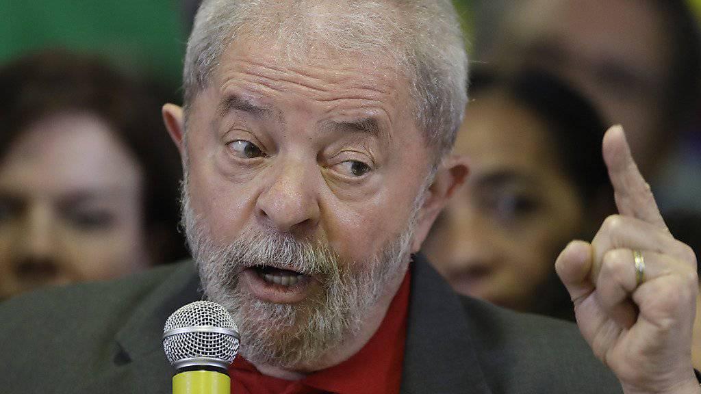 Für die Staatsanwaltschaft ist Brasiliens Ex-Präsident Lula der Kopf hinter dem Korruptionsnetzwerk um den staatlichen Ölkonzern Petrobras. (Archivbild)