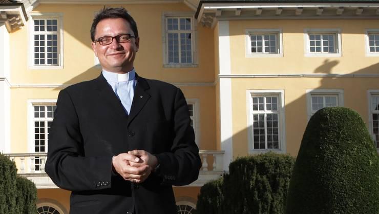 «Ich bin weder Polizist noch Detektiv», sagt Bischof Felix Gmür vor seinem Amtssitz in Solothurn. Sein Bistum Basel ist die grösste Diözese der Schweiz.