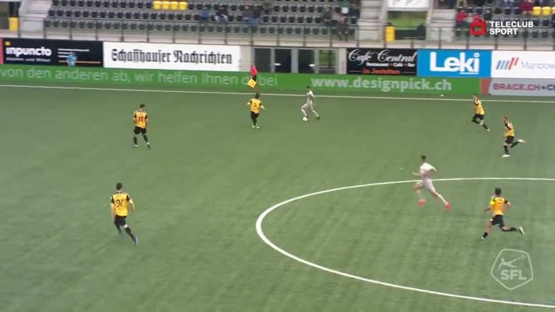 Challenge League 18/19 Runde 33: FC Schaffhausen - FC Aarau 11.5.19 - 2:1 für FC Aarau von Varol Tasar (Assist: Gianluca Frontino)