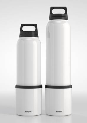 Neu designte SIGG-Flaschen der beiden Künstler Thilo Alex Brunner und Jörg Mettler