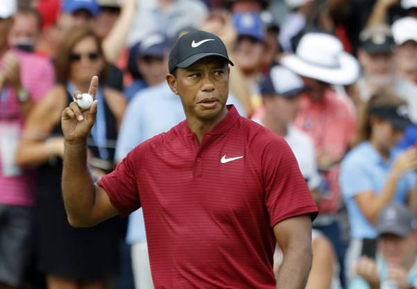 Tiger Woods erfolgreich am Turnier.