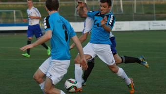 Der FC Brugg (in Blau) will gegen die Kontrahenten vom FC Windisch als Sieger vom Platz gehen.