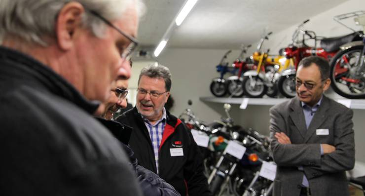 Seniorchef Werner Keller schwärmt von seinen Motorrädern