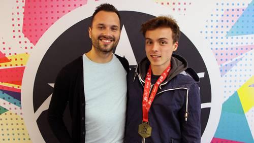 Pascal Gerber (rechts) mit Argovia Moderator André Sauser