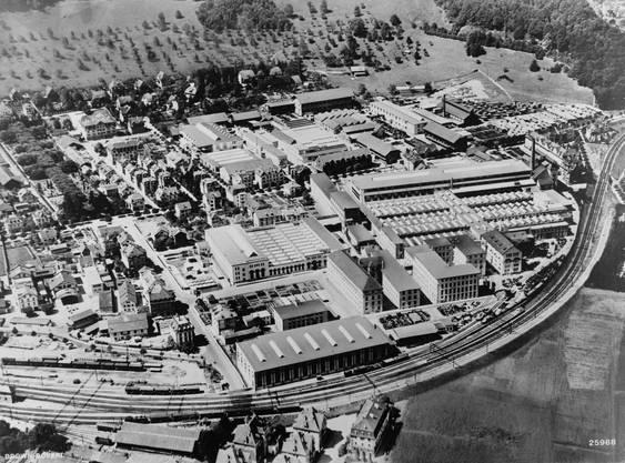 Das Areal der BBC auf einer Fliegeraufnahme aus dem Jahr 1929.
