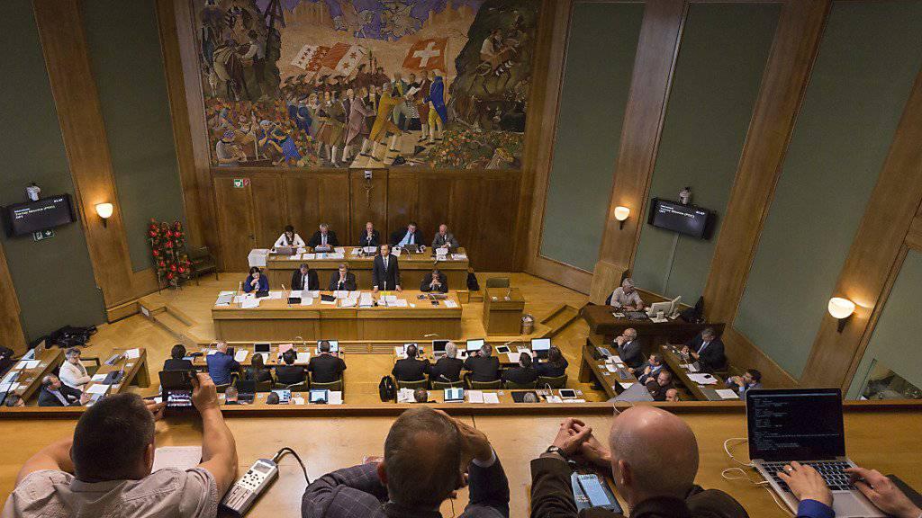 Der Walliser Grosse Rat erklärte eine Volksinitiative der SVP für ein Kopfbedeckungsverbot am Freitag für ungültig. (Archivbild)