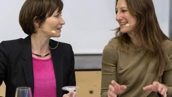 Co-Präsidentinnen Regula Rytz (l.) und Adèle Thorens an der DV