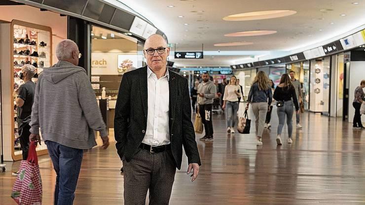 «Kein einziges Geschäft im Shoppi Tivoli musste wegen Corona schliessen», sagt Patrick Stäuble.