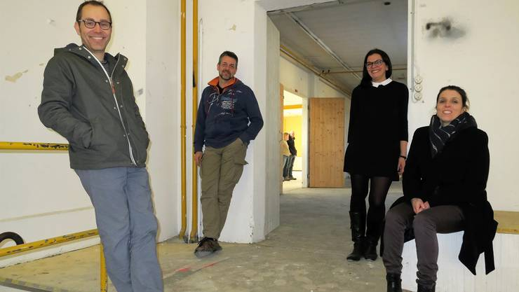 Der Vorstand des neuen Vereins Gleis 21 hat viel vor (v. l.): Christian Höhener, Fabian Hauser, Kerstin Camenisch und Carla Hohmeister. Flurina Dünki