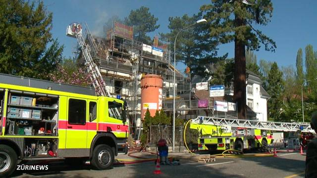 Brand in alter Villa in Zollikon