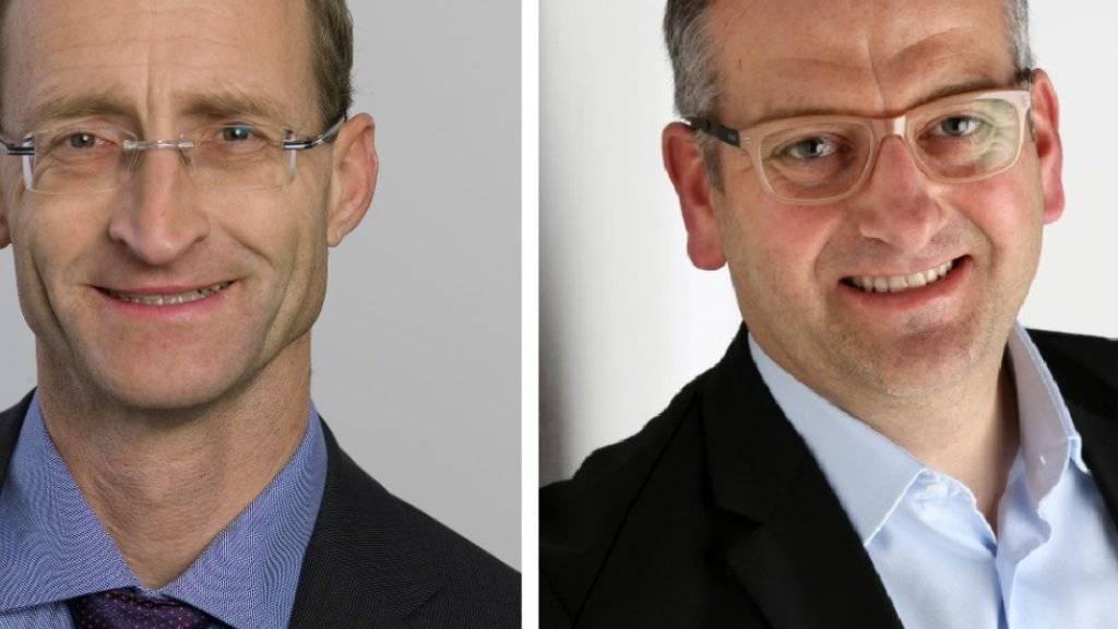 Gehören neu der Schwyzer Regierung an: (von links) René Bünter (SVP) und Michael Stähli (CVP).