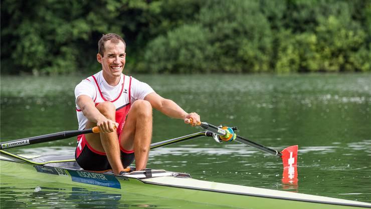 Daniel Wiederkehr vom Ruderclub Baden tritt in Rio in der Kategorie Leichtgewichts-Doppelzweier an. Sandra Ardizzone