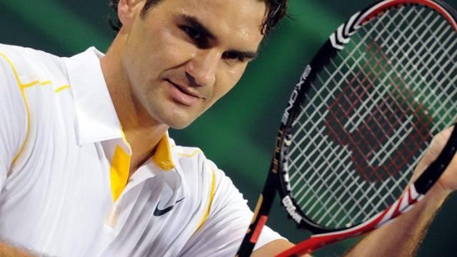 Roger Federer spielt um seinen ersten Turniersieg des neuen Jahres