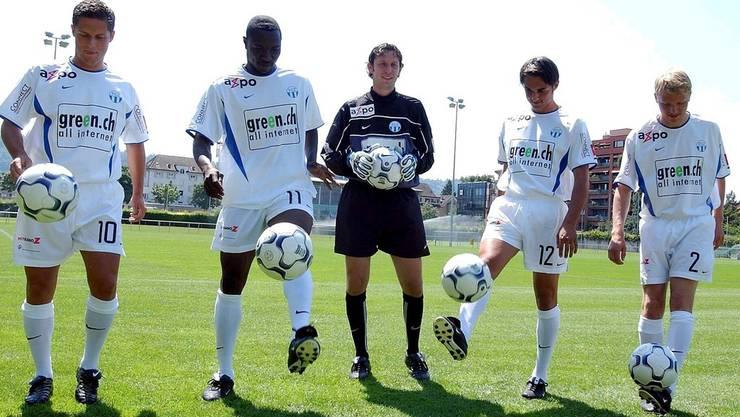 Lucky Isibor (2. von links) mit seinen damaligen Teamkollegen.