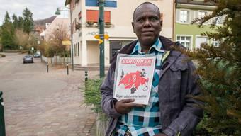 Der Somalier Ibraahin Abokor arbeitet gerne in Arlesheim.