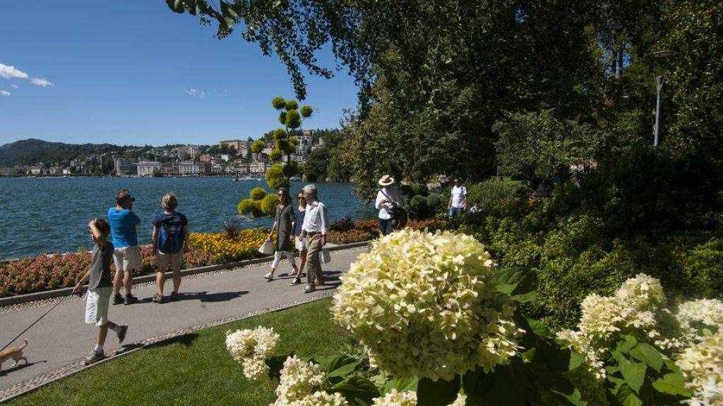 Gemäss der Taschenstatistik «Lebensqualität in den Städten» hat Lugano von acht untersuchten Schweizer Grossstädten am meisten Grünfläche - und am wenigsten Ärzte pro 1000 Einwohner. (Archivbild)