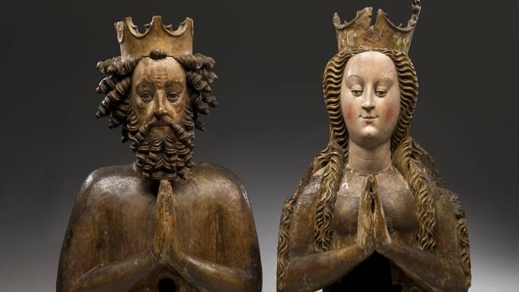 Freigiebiges Kaiserpaar: Reliquienbüste des Kaiserpaars Heinrich II. und Kunigunde (um 1430/1440). Sie ist Teil der Sammlung des Erzbischöflichen Diözesanmuseums in Paderborn. (zvg)