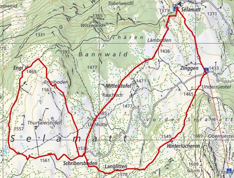 Die interaktive Karte von Schweizmobil finde