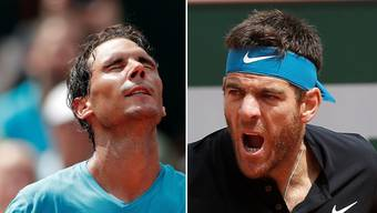 Rafael Nadal und Juan Martin Del Potro ermitteln den French-Open-Finalisten.