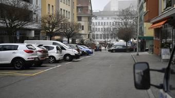 Parkplätze an der Marktstrasse in Grenchen.