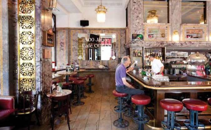 Platz 3: Das «Odeon» ist neben dem «Sprüngli» zweifelsfrei das bekannteste und geschichtsträchtigste Café in Zürich.