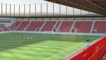 Das neue Aarauer Fussballstadion Torfeld-Süd